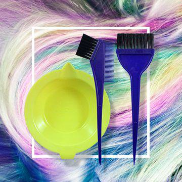 Brushes and trays for hair coloring